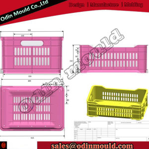Quality Plastic Turnover Box Injection Mold Automatic Demoulding pictures & photos