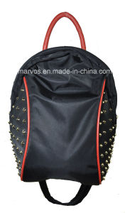 New Style Nylon with Leather Backpack with Hight Quality (BS13609) pictures & photos