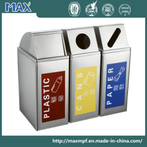 New Design Strong Metal Waste Bin with Coloful Logo Printing pictures & photos