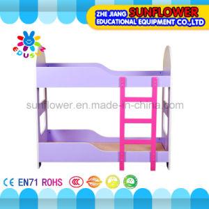 Children Double Layer Wooden Beds for Kindergarten pictures & photos