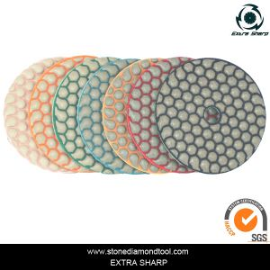 "3"", 4"", 5"", 7"" Velcro Diamond Flexible Resin Dry Polishing Pads pictures & photos"