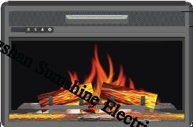 """26"""" Insert Curved Electric Fireplace"""