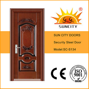 Fashion Style Cheap Wrought Steel Iron Door for Outside (SC-S134) pictures & photos