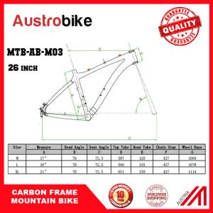 "26"" Carbon Frame Full Suspension Carbon MTB Frame 26 pictures & photos"