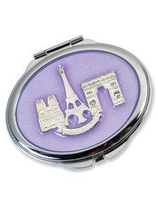 Purple Folded Souvenir Pocket Mirror (MX101A) pictures & photos