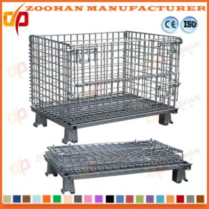Stackable Steel Wire Mesh Basket Container Warehouse Storage Cage (Zhra16) pictures & photos