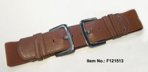Double Buckle Brown Weaving Belt pictures & photos