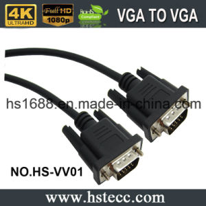 Hot Selling 15-Pin Plug VGA M\M Mointor Extended Cable