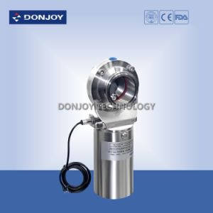 Ss304 Clamped Pneumatic Butterfly Valve with Position Sensor pictures & photos