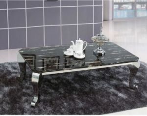 Royal Black Marble Coffee Side Table Set for Home (CCT-020) pictures & photos