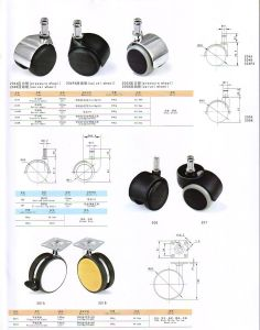 Furniture Fittings Pressure Wheel Caster pictures & photos