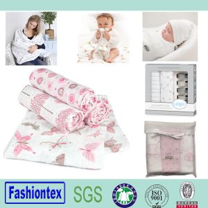 Baby Organic Cotton Blanket Certified Organic Cotton Muslin pictures & photos