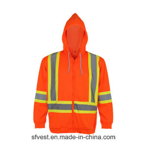 Safety Reflective High Visibiliy Polar Fleece Jacket Sweatshirt