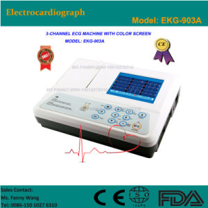 CE Approved Digital 3-Channel Handheld Electrocardiograph ECG (EKG-903A) -Fanny pictures & photos