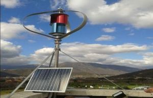 Maglev Wind Generator with Solar Panel System for Street Light Use pictures & photos