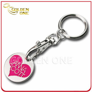 Promotion Cheap Customized Metal Trolley Coin with Key Ring pictures & photos