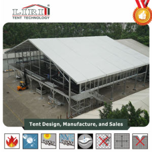 Two Storey Double Decker Tent with Glass Wall as Exhibition Show Tent pictures & photos