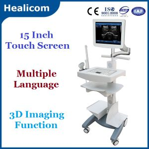 Touch Screen Trolley Ultrasound B Scanner Ultrasound (HBW-100) pictures & photos