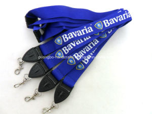 Custom Blue Cheap 100% Polyester Printing Promotion Lanyard pictures & photos