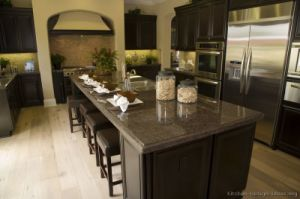 Dark Espresso Kitchen Cabinets (DE6) pictures & photos