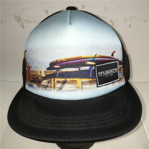 (LSN15073) 5 Panel Snapback Sublimation Print Fitted Cap pictures & photos