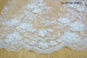 White Rayon Floral Lace Wedding Factory Vl-80180-3dbcp pictures & photos