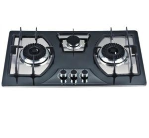 Cheap Price 201 Stainless Steel 3 Burner Gas Hob, Gas Cooker pictures & photos