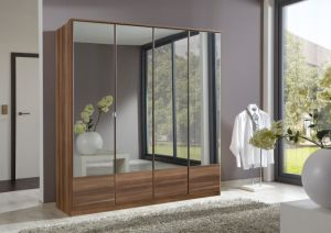 Modern Mirror Hinged Door Wardrobe (HF-EY082) pictures & photos