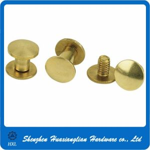 Brass Plated Steel Male Female Chicago Binding Post Book Screw pictures & photos