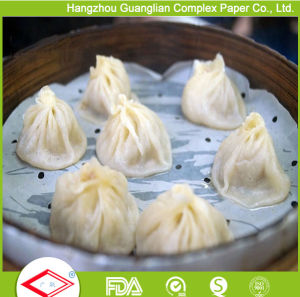 4.5 Inch Silicone Coated Non-Stick Steam Paper for Bamboo Steamer pictures & photos