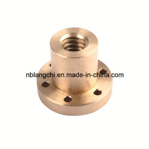 Trapezoidal Thread Machining Parts Copper Brass Flanged Nuts pictures & photos