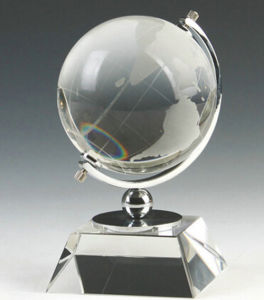 Modern Design Crystal Office Decoration with Crystal Globe (KS1201067) pictures & photos