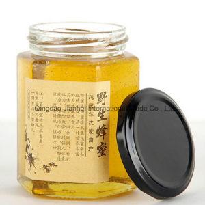 Eco-Friendly Hexagonal Honey Jam Jar Glassware with Multi-Size pictures & photos