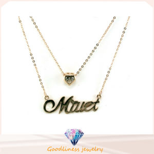 Fancy Silver 925 Palted Women Large Sterling Silver Letter Necklace Jewelry (N6599) pictures & photos