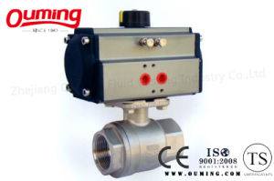 2PC Threaded Pneumatic Actuator Control Ball Valve with ISO 9001 pictures & photos