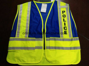 Safety Police Vest with Print Logo Five Tear Away pictures & photos
