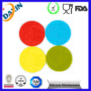 Cup Mats Round Silicone Rubber Placemat Round Heat-Resistant Mat pictures & photos
