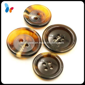 Fashion Imitation Horn Button Flat Back Style Resin Sewing Button pictures & photos