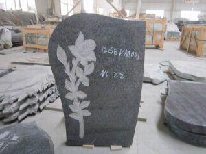European Simple Granite Tombstone Black Monument pictures & photos