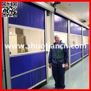 Automatic Industrial PVC Roll up High Speed Door (ST-001) pictures & photos