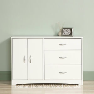 Living Room 2+4 Wood Storage Cabinet Dresser in White pictures & photos