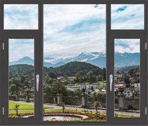 Luxury Design Power Coating Casement Window with Fixed Glass (TS-1053) pictures & photos