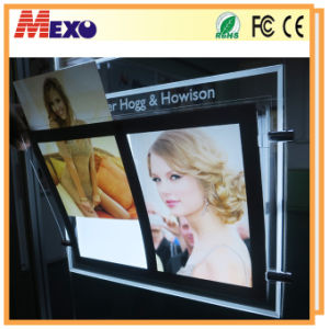 Single Sided Crystal LED Light Box Magnetic Slim Light Pocket pictures & photos