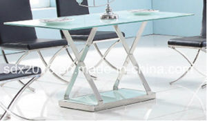 Modern Stainless Steel Table / Clear Glass Coffee Table / Tea Table pictures & photos