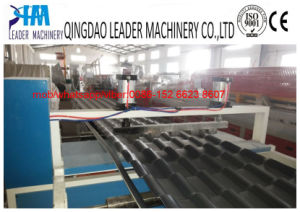 Asa Coated PVC Synthetic Resin Glazed Roofing Tiles Production Line pictures & photos