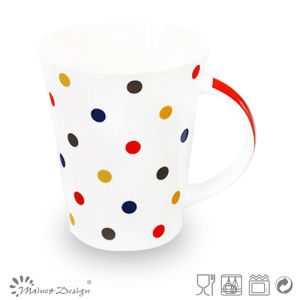 12oz Color Dots Design Ceramic Mug pictures & photos