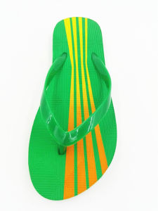 Green PVC Unisex Flip Flops Deboss Customer Logo pictures & photos