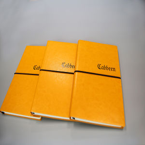 Yellow PU Leather Note Book with Rubber Band pictures & photos