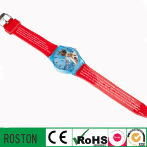 Japan Quartz Movement PVC Kids Watch pictures & photos