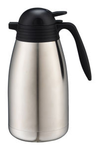 Double Wall Stainless Steel Coffee Pot with Handle pictures & photos